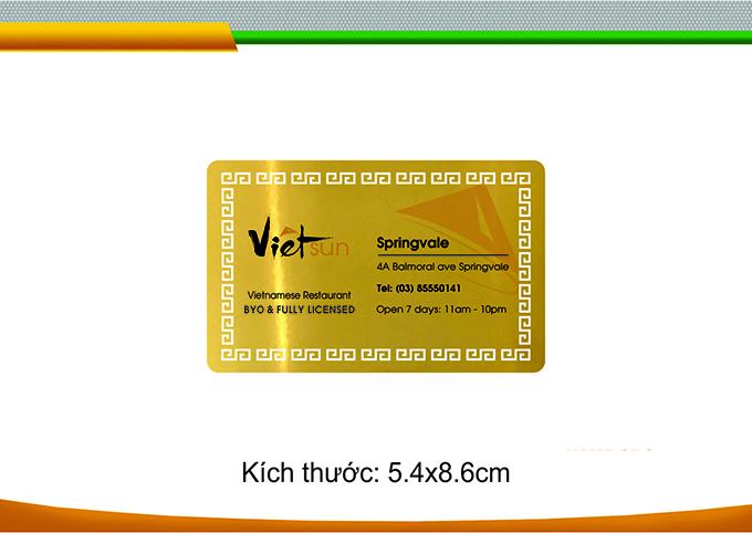 in card visit sang trọng