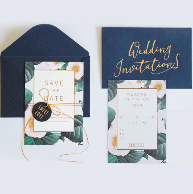 Thiệp cưới in bằng giấy offset