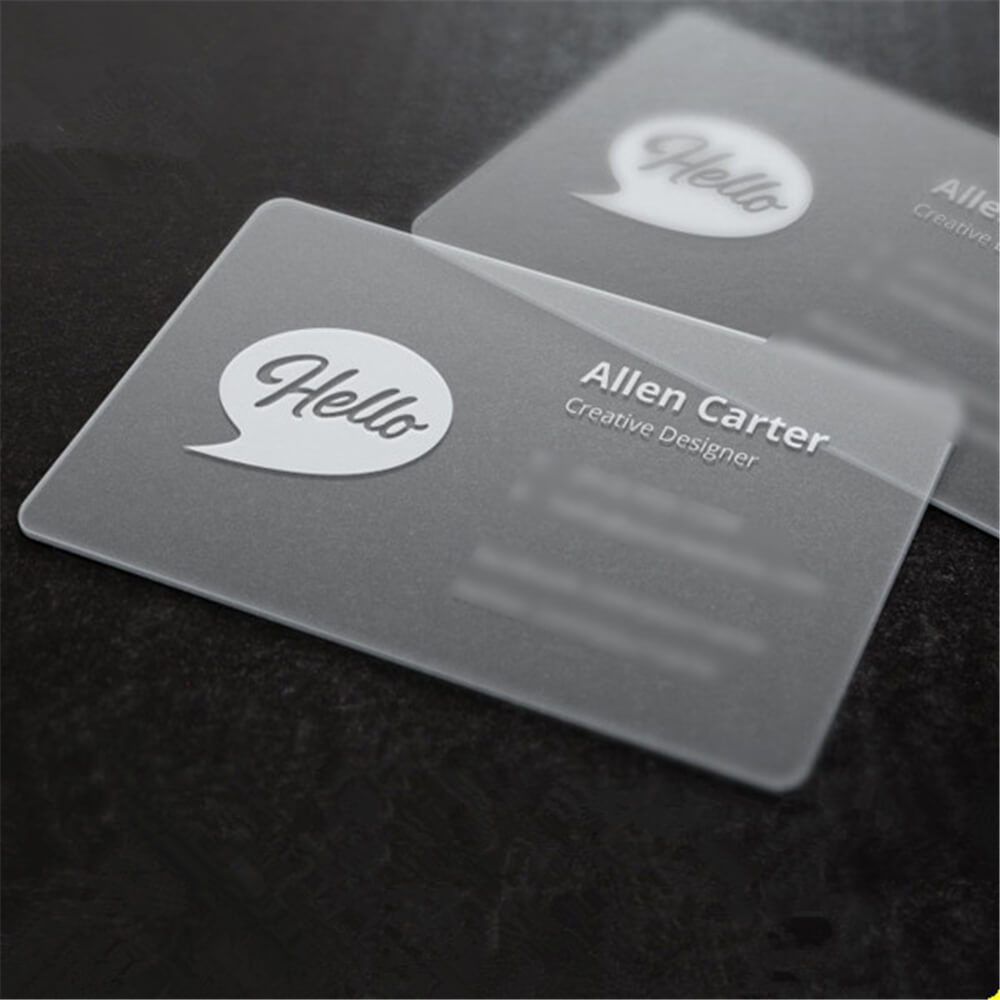 in card visit nhựa