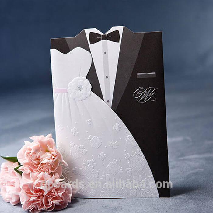 Thiệp cưới in bằng giấy mỹ thuật