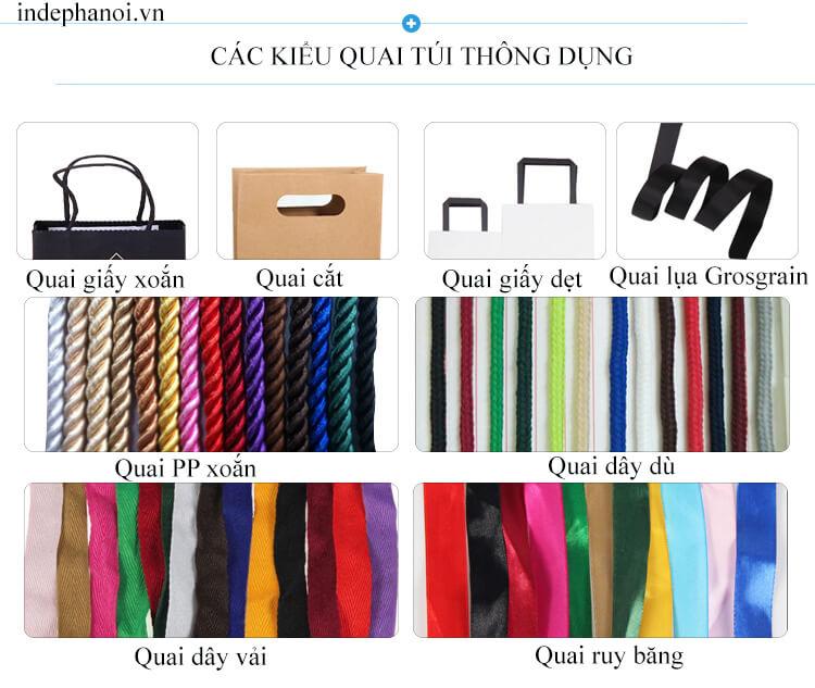 Các kiểu quai túi giấy thông dụng