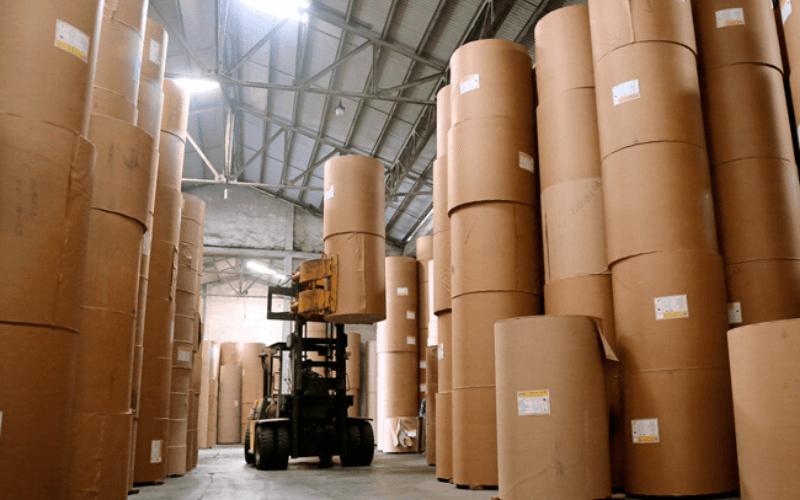 Giấy cuộn để sản xuất carton