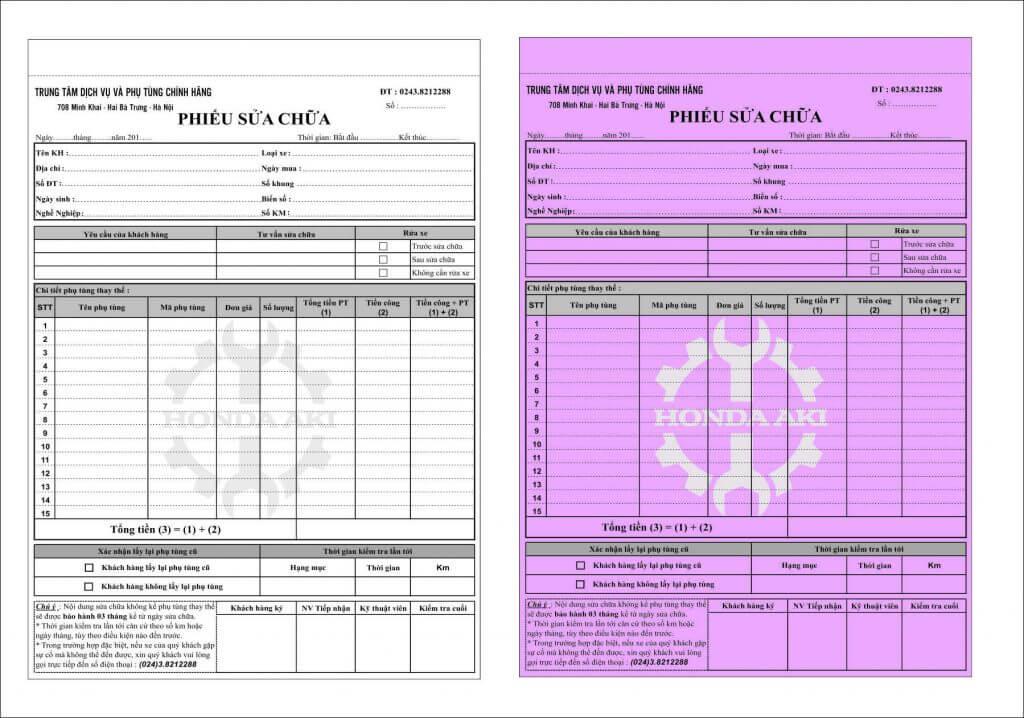 Mẫu hóa đơn bán lẻ A4 - 03