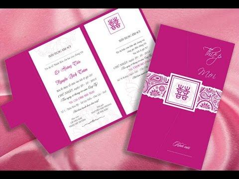 Thiệp cưới dạng hình chữ nhật