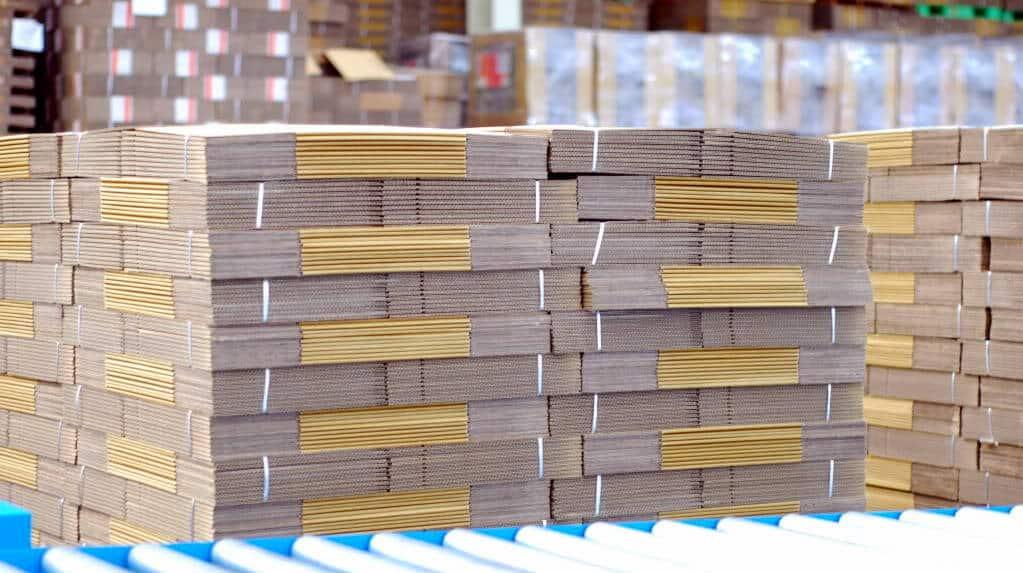 Thùng carton đã được sản xuất thành phẩm