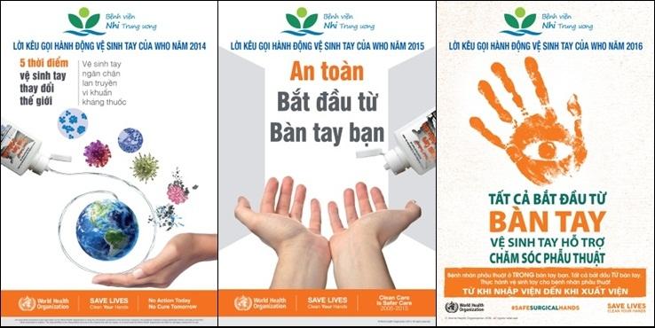 Poster y tế tuyên truyền vệ sinh tay sạch sẽ