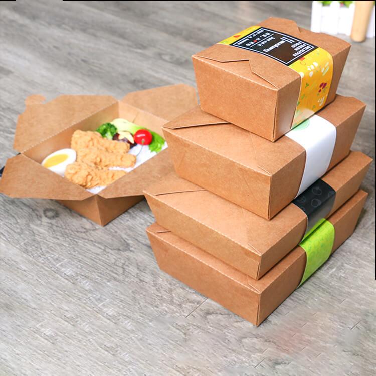 Hộp giấy đựng thức ăn nóng hình hộp chữ nhật
