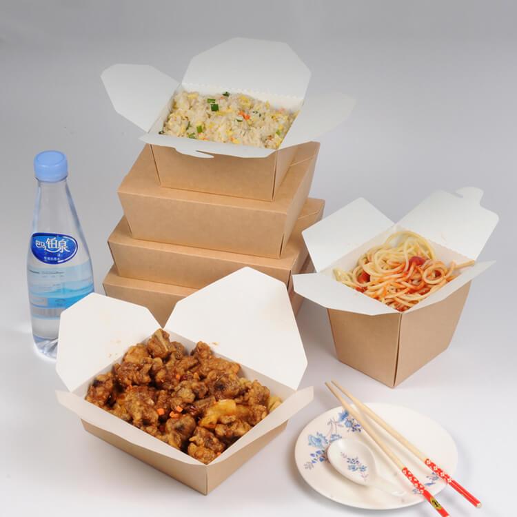 Hộp giấy đựng thức ăn nóng tiện dụng, đảm bảo vệ sinh