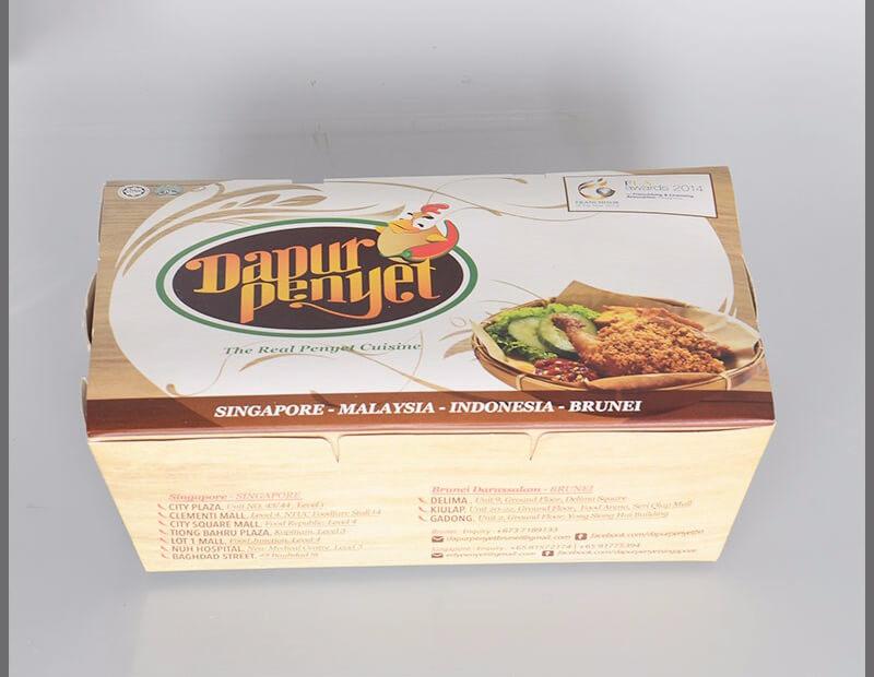 Hộp giấy đựng thức ăn nóng loại to