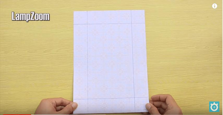 Kẻ các đường thẳng theo điểm đã đánh dấu
