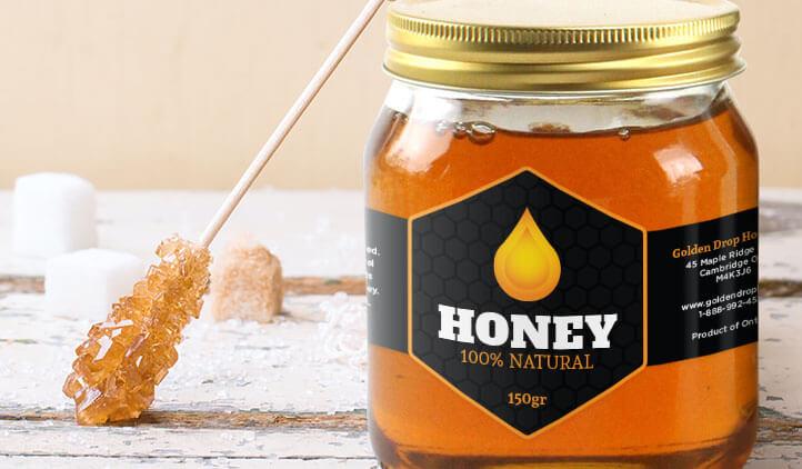 Mẫu tem nhãn mật ong 12