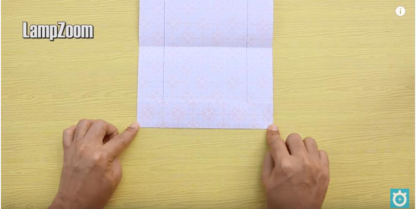 Gấp các cạnh của hộp giấy