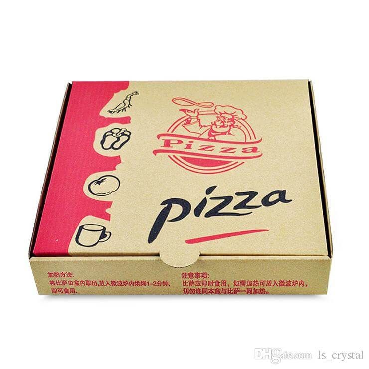 Mẫu Hộp Bánh pizza đẹp 30