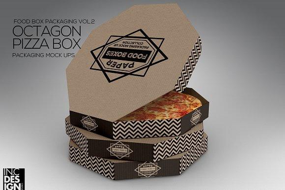Mẫu Hộp Bánh pizza đẹp 07