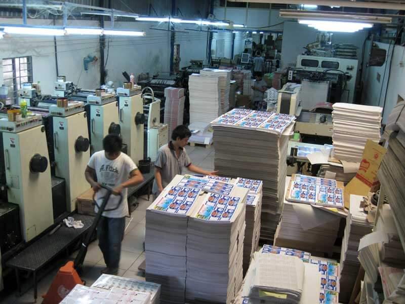 Xưởng in hộp giấy bằng công nghệ in Offset