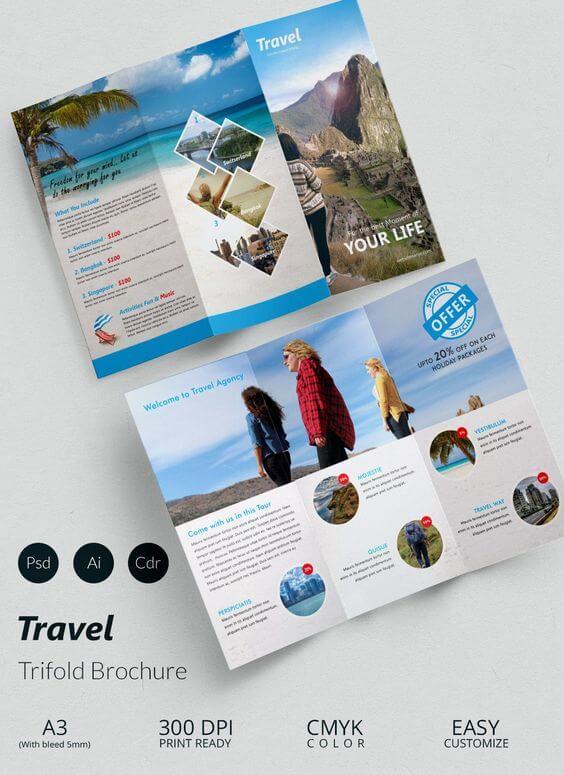Mẫu tờ rơi quảng cáo du lịch