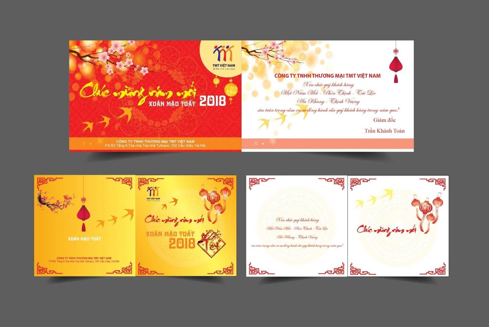 In thiệp chúc mừng năm mới tại Hà Nội