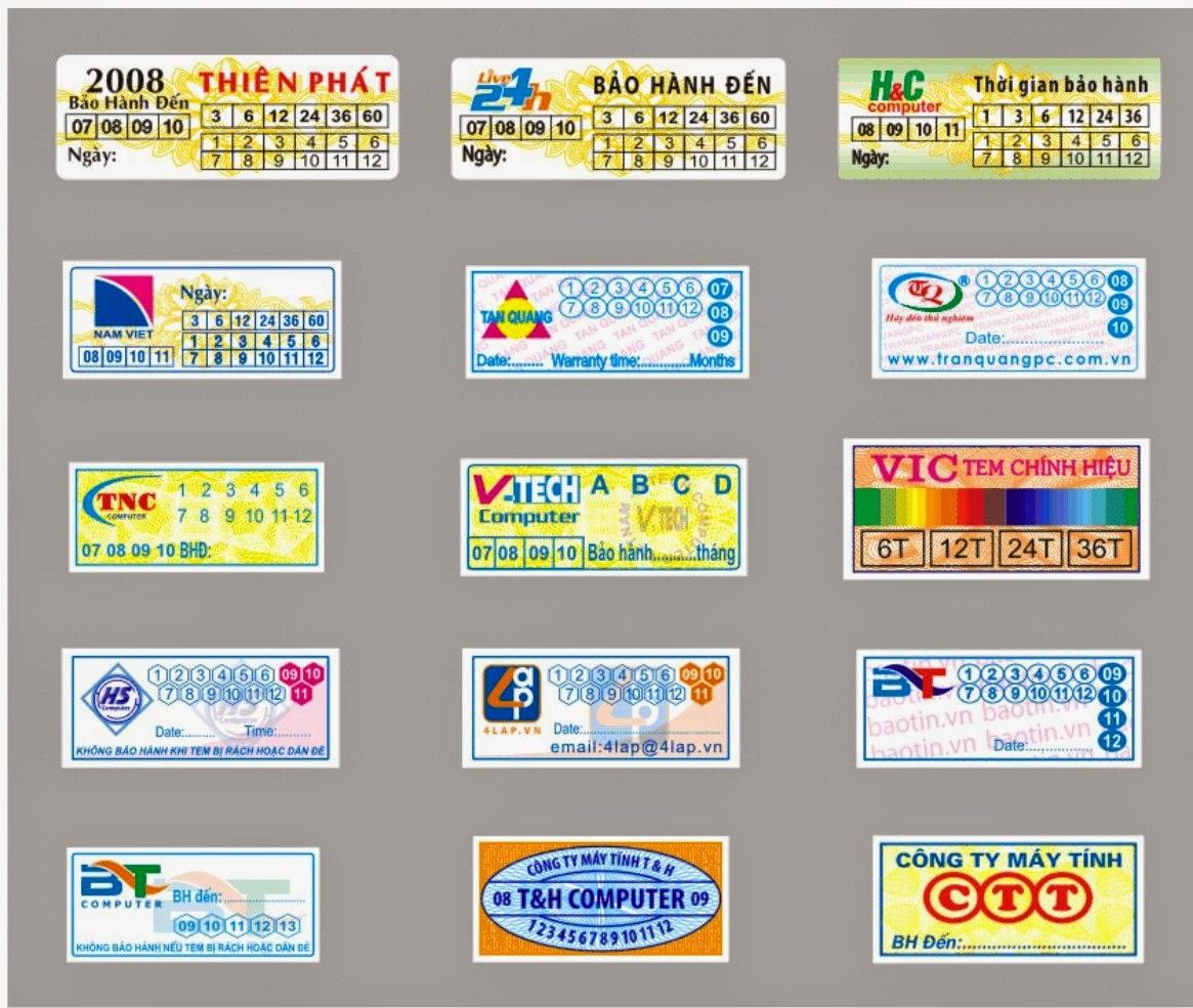 Mẫu tem bảo hành giá rẻ