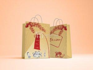 Mẫu túi giấy đựng quà tết giá rẻ