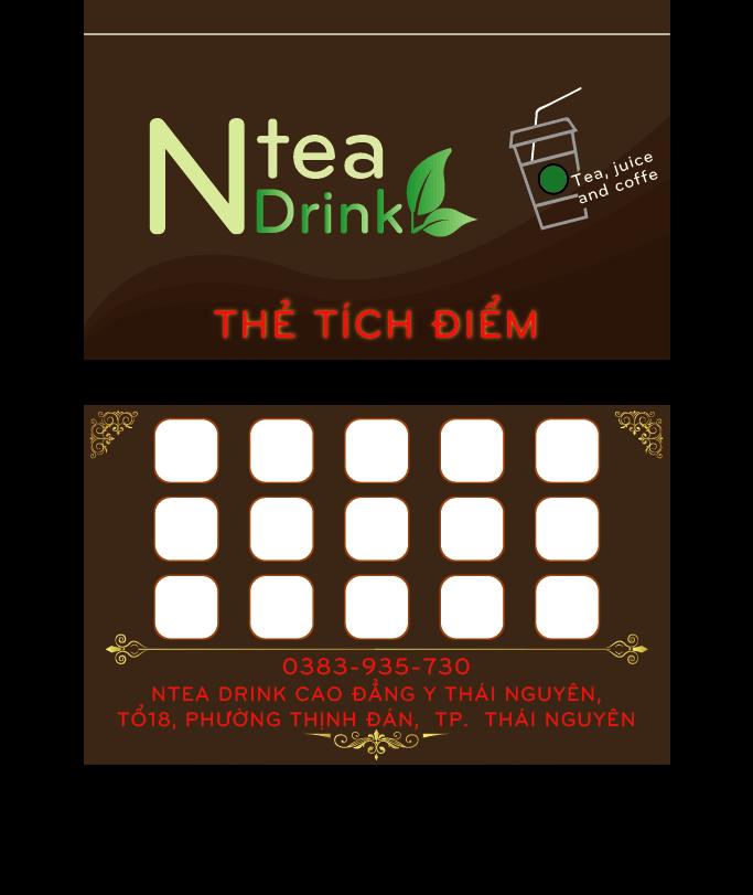 In thẻ tích điểm trà sữa