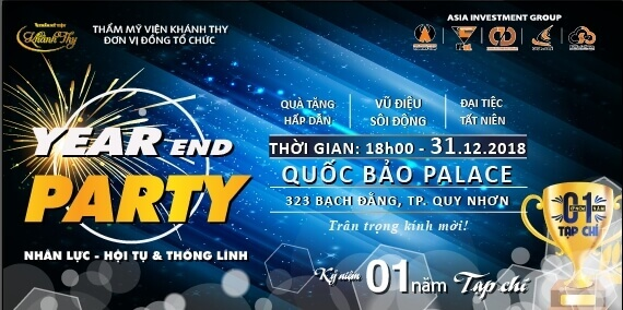 Mẫu thiệ mời end of party