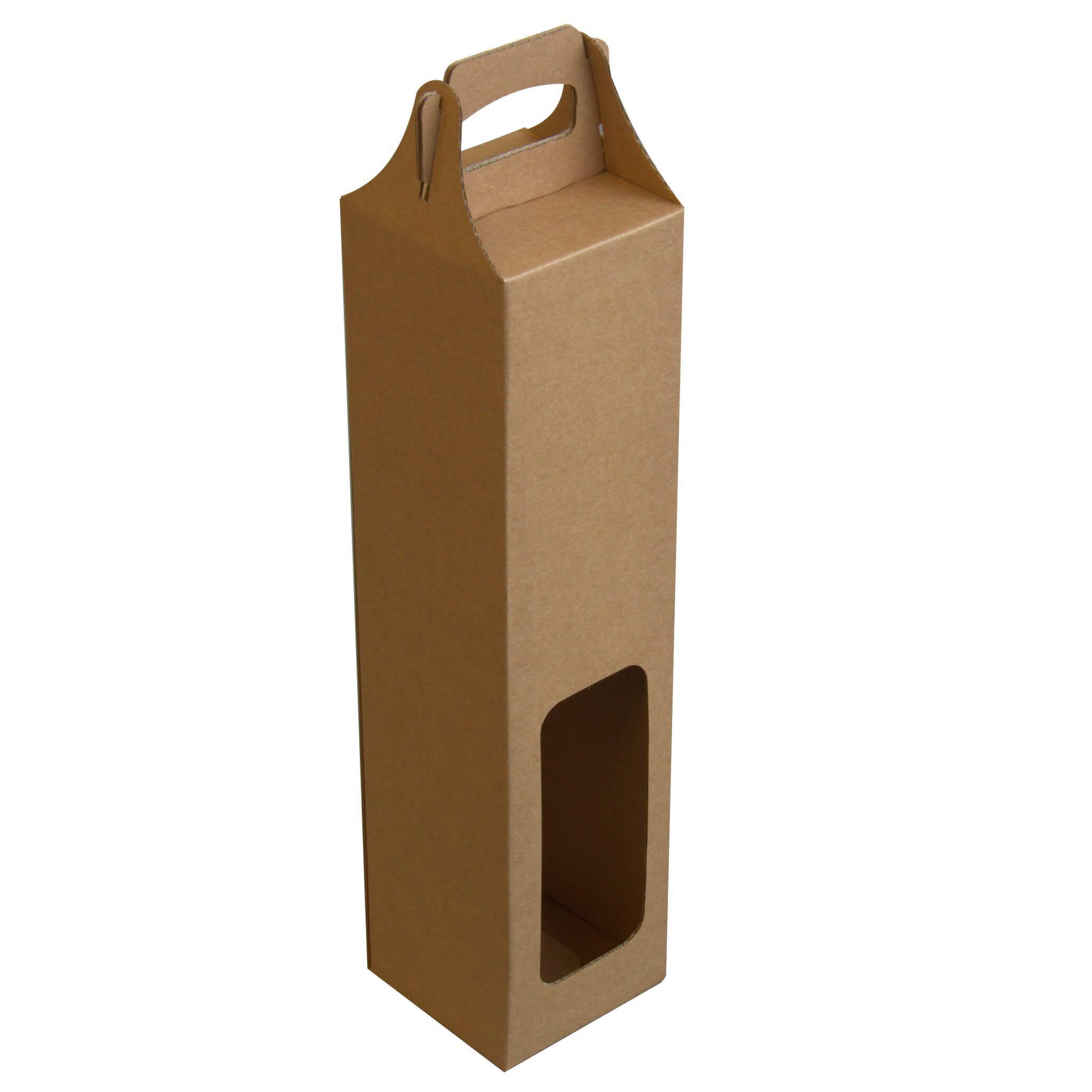 Hộp giấy kraft đựng rượu vang