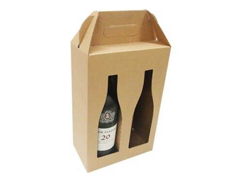 Hộp đựng rượu vang bằng giấy kraft