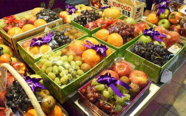 Khay giấy đựng hoa quả