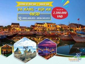 Mẫu poster du lịch Đà Nẵng - Hội An