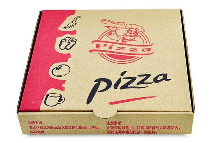 Hộp pizza bằng carton in trực tiếp