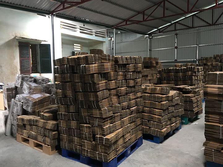 Sản xuất Hộp carton đóng hàng