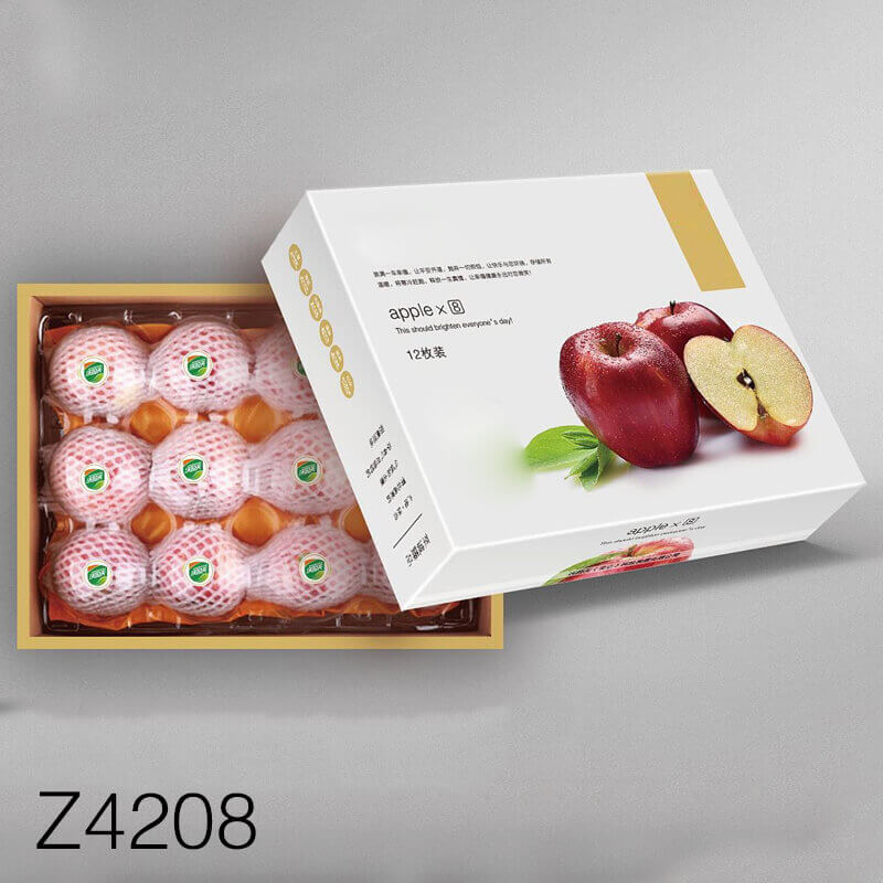 Khay giấy đựng táo đỏ