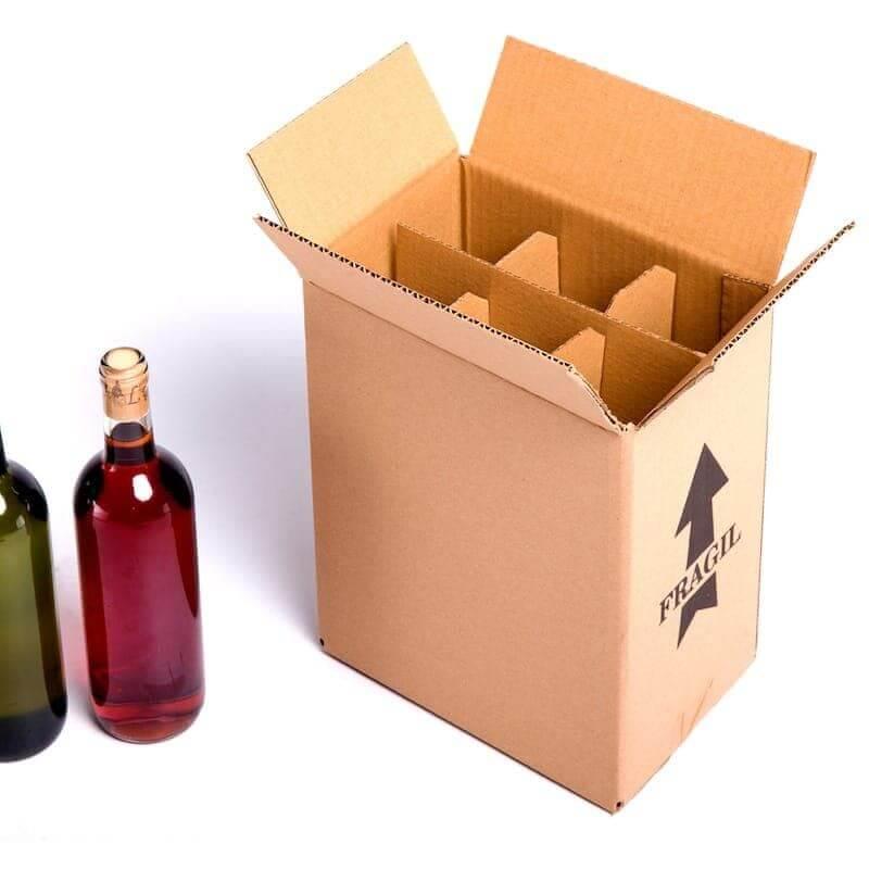 Thùng carton đựng 6 chai rượu nắp đối khẩu